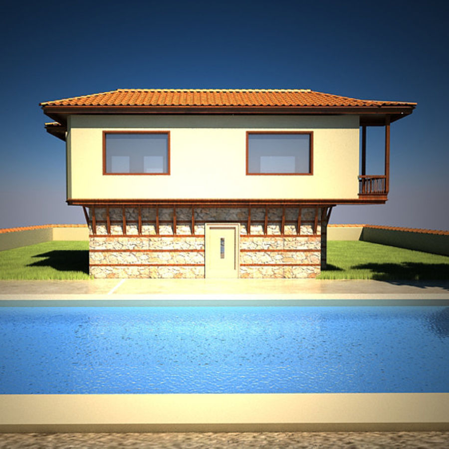House With Swimming Pool royalty-free 3d model - Preview no. 8