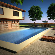 House With Swimming Pool 3d model