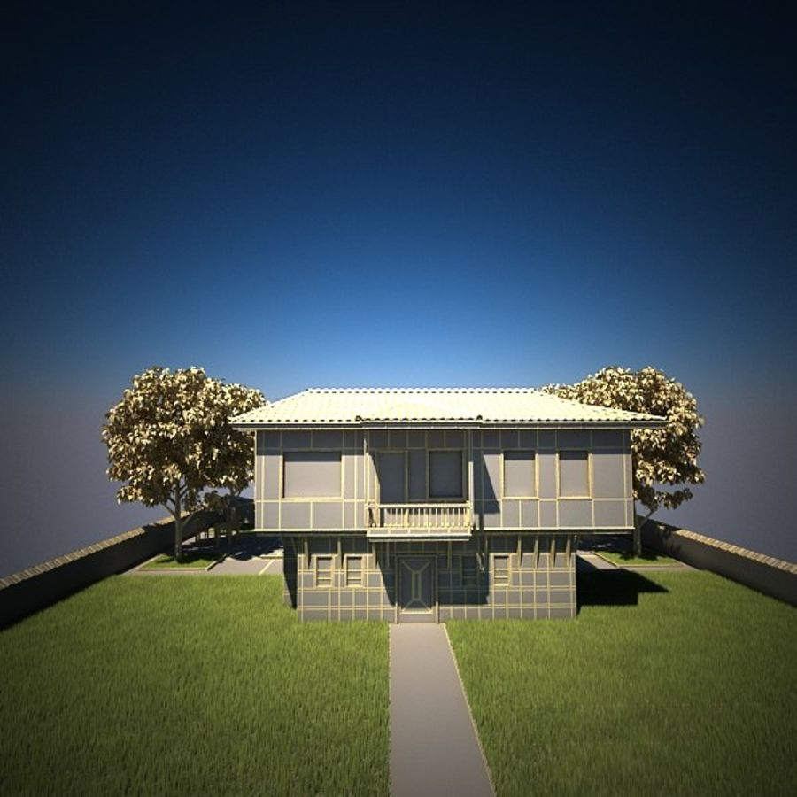 House With Swimming Pool royalty-free 3d model - Preview no. 21