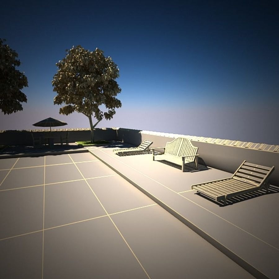 House With Swimming Pool royalty-free 3d model - Preview no. 18