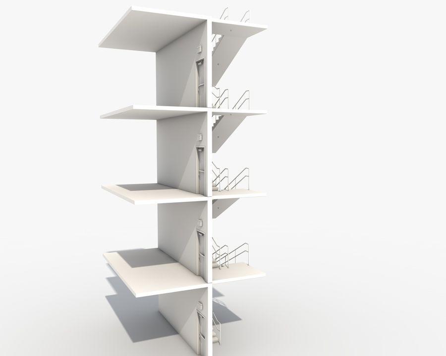 Acil durum merdivenleri royalty-free 3d model - Preview no. 8