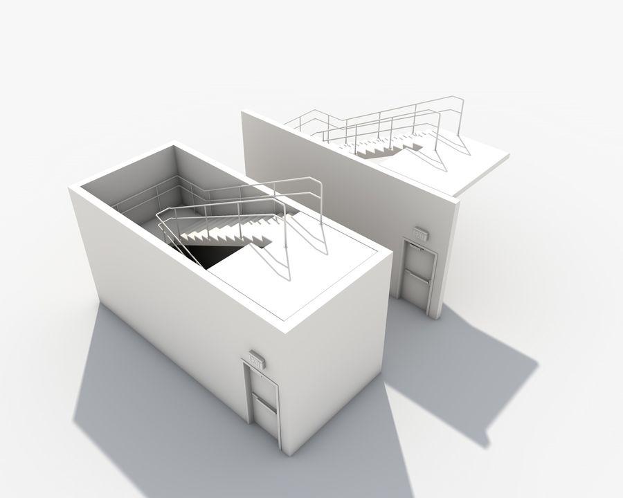 Acil durum merdivenleri royalty-free 3d model - Preview no. 22
