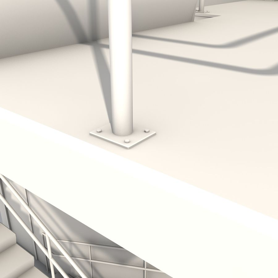 Emergency Stairs royalty-free 3d model - Preview no. 15