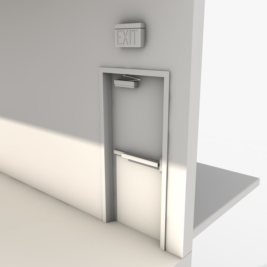Emergency Stairs royalty-free 3d model - Preview no. 18