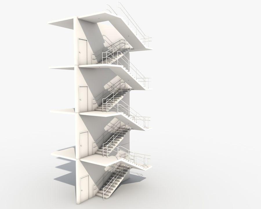 Acil durum merdivenleri royalty-free 3d model - Preview no. 10
