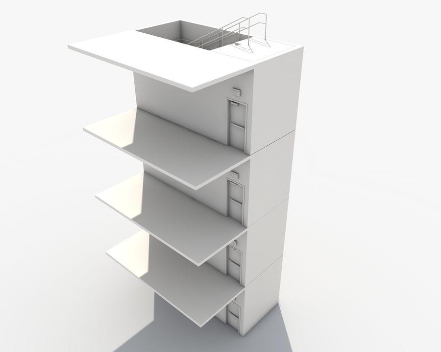 Acil durum merdivenleri royalty-free 3d model - Preview no. 19