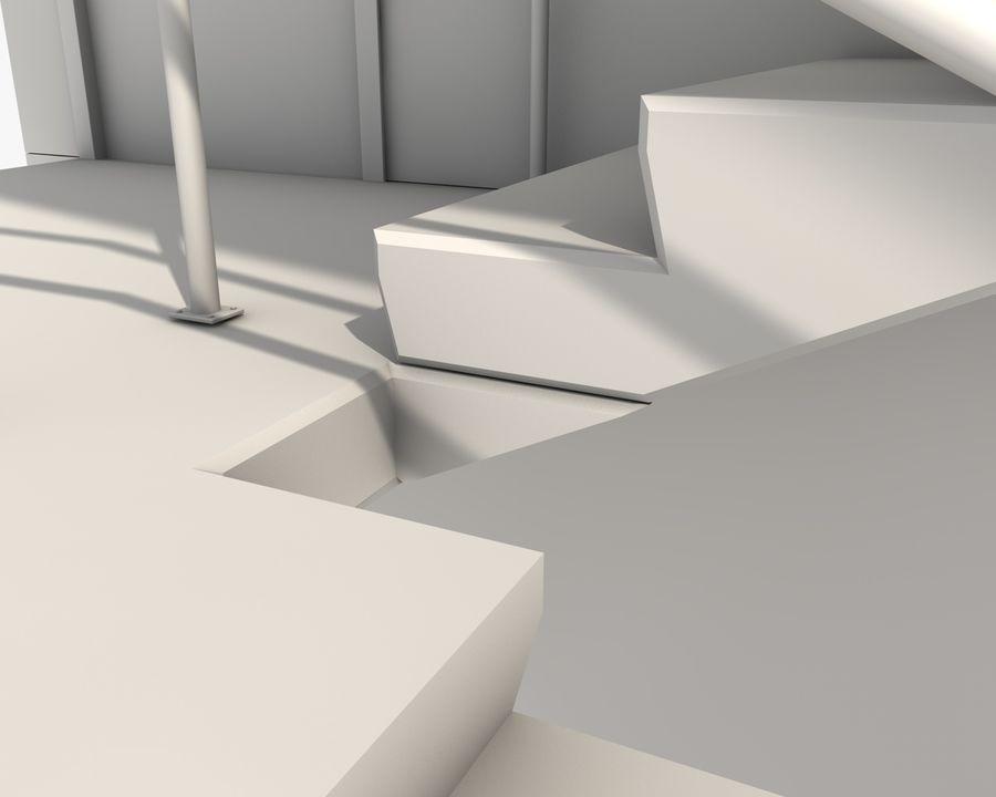 Acil durum merdivenleri royalty-free 3d model - Preview no. 16