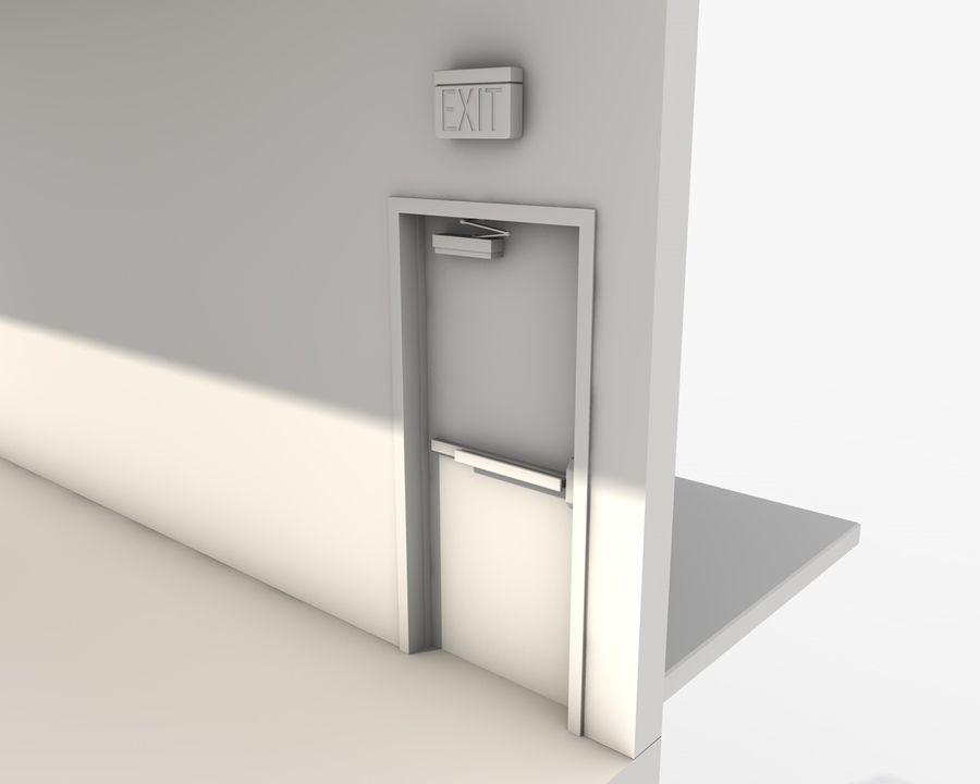 Acil durum merdivenleri royalty-free 3d model - Preview no. 18