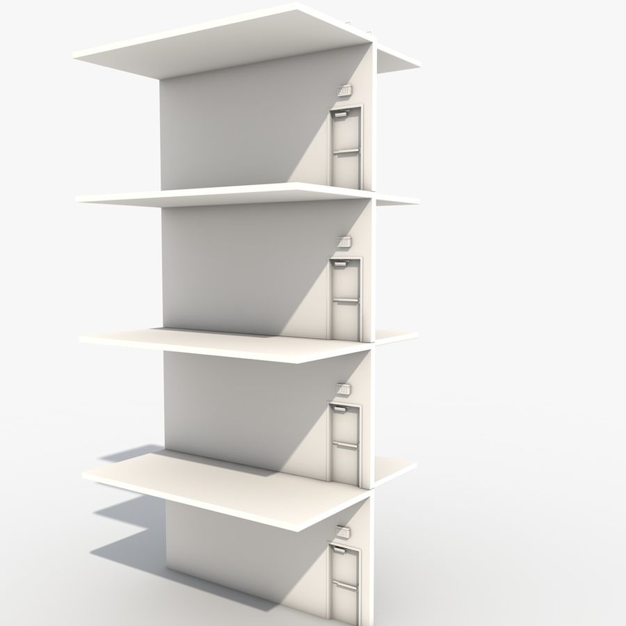 Emergency Stairs royalty-free 3d model - Preview no. 7