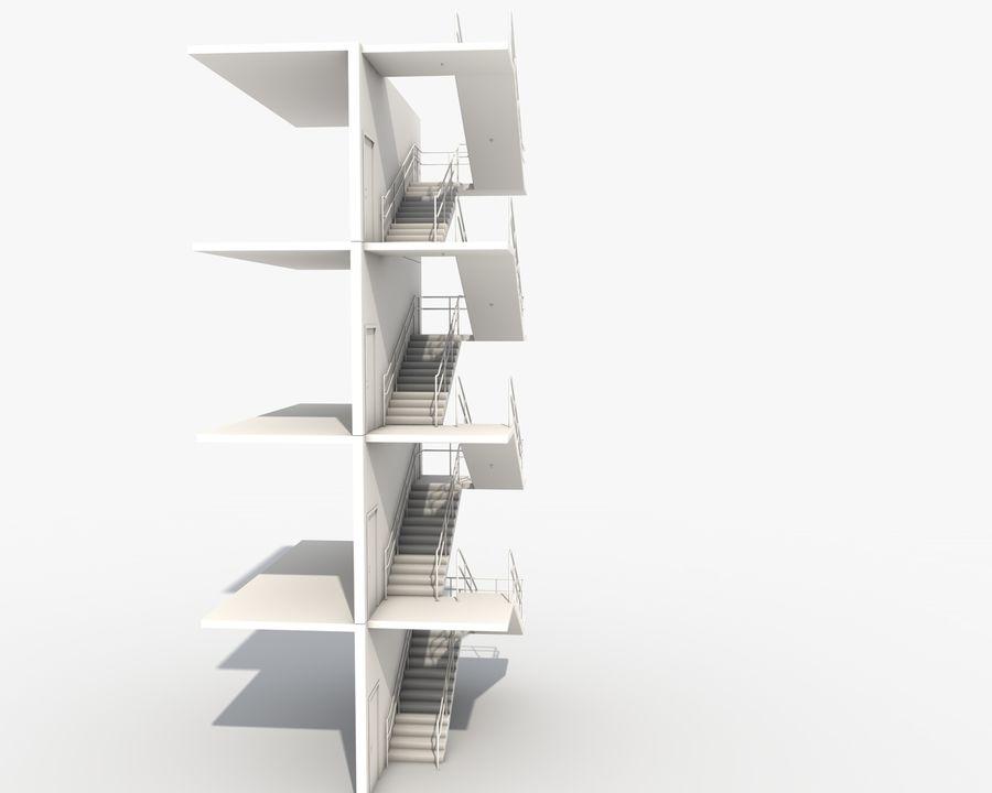 Acil durum merdivenleri royalty-free 3d model - Preview no. 9