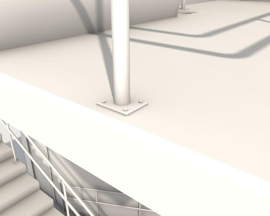 Acil durum merdivenleri royalty-free 3d model - Preview no. 15