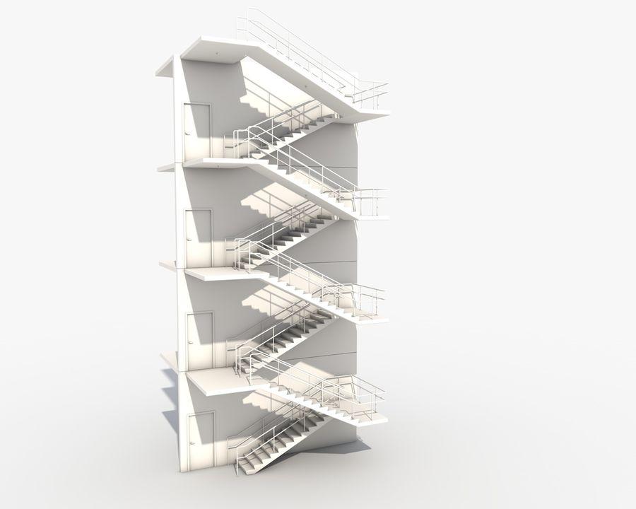 Acil durum merdivenleri royalty-free 3d model - Preview no. 11