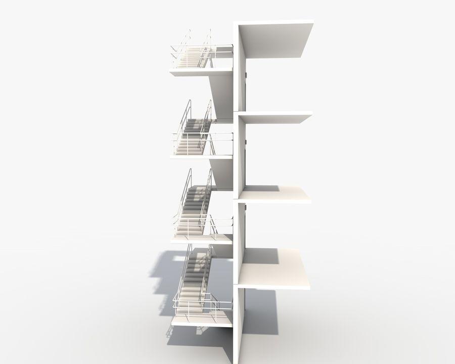 Acil durum merdivenleri royalty-free 3d model - Preview no. 3