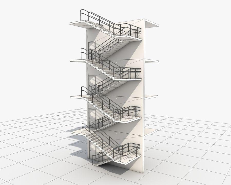 Acil durum merdivenleri royalty-free 3d model - Preview no. 13