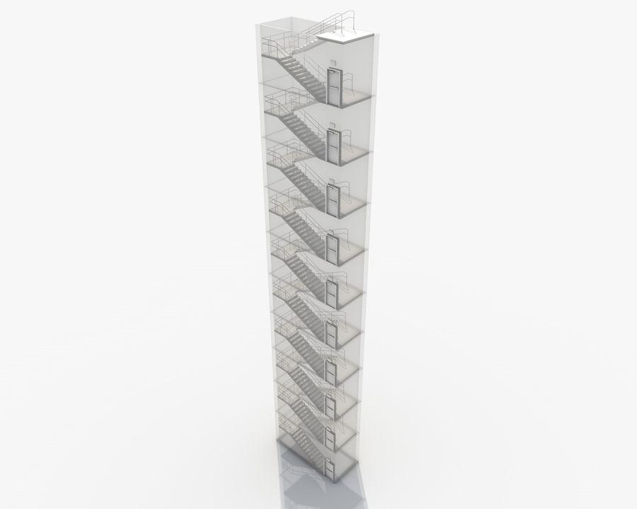 Acil durum merdivenleri royalty-free 3d model - Preview no. 21