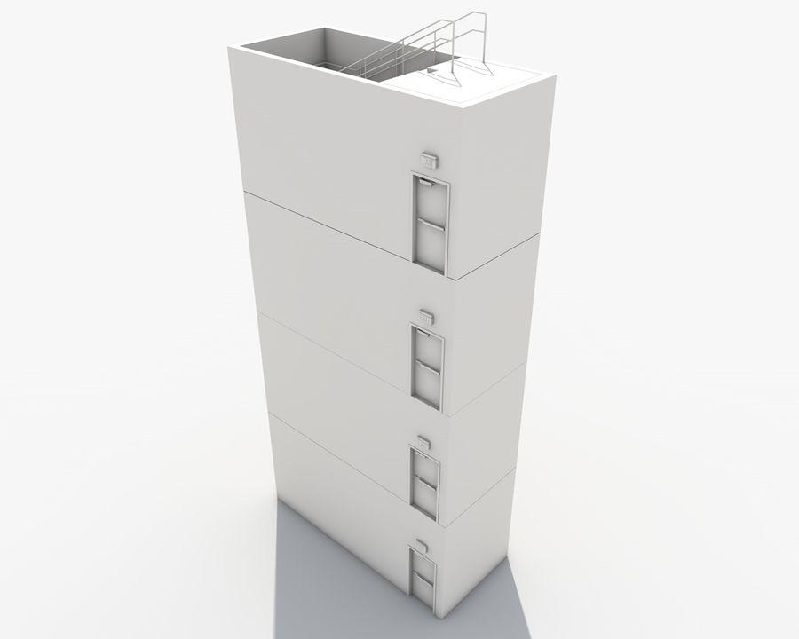 Acil durum merdivenleri royalty-free 3d model - Preview no. 20
