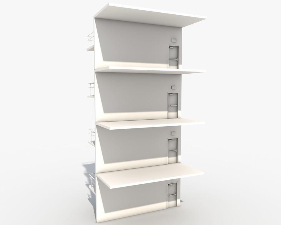Acil durum merdivenleri royalty-free 3d model - Preview no. 5
