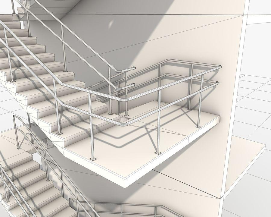 Acil durum merdivenleri royalty-free 3d model - Preview no. 14