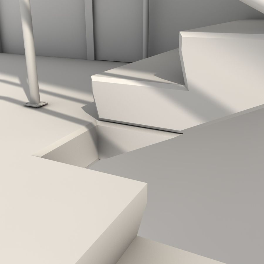 Emergency Stairs royalty-free 3d model - Preview no. 16