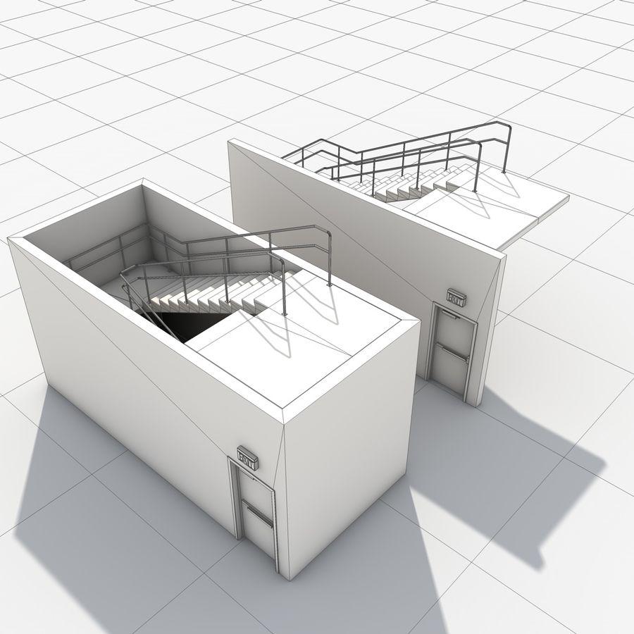 Emergency Stairs 3D Model $10 -  obj  fbx  dxf  dae  c4d