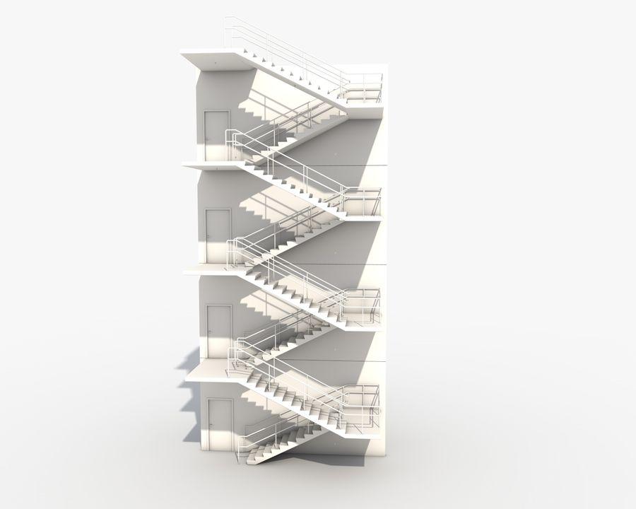Acil durum merdivenleri royalty-free 3d model - Preview no. 12