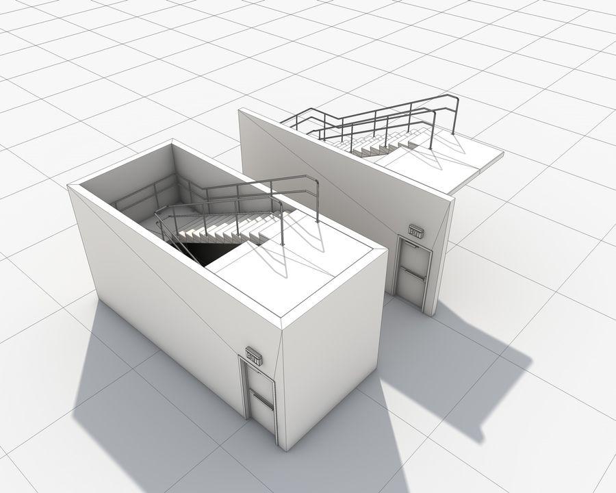 Acil durum merdivenleri royalty-free 3d model - Preview no. 23