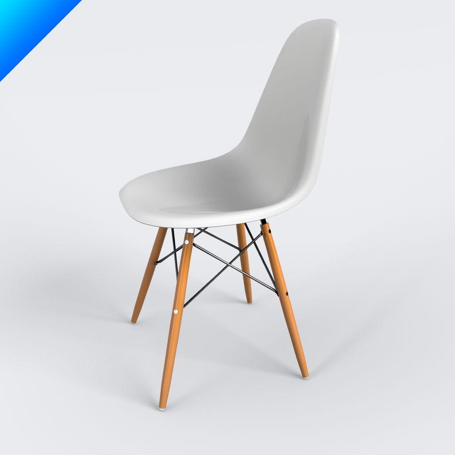 vitra dsw eames plastic side chair 3d model 25 max obj ma fbx