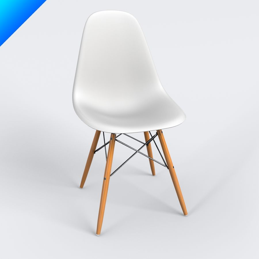 vitra dsw eames plastic side chair 3d model 25 max. Black Bedroom Furniture Sets. Home Design Ideas