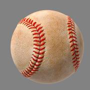 Baseball con sporcizia e nuovo 3d model