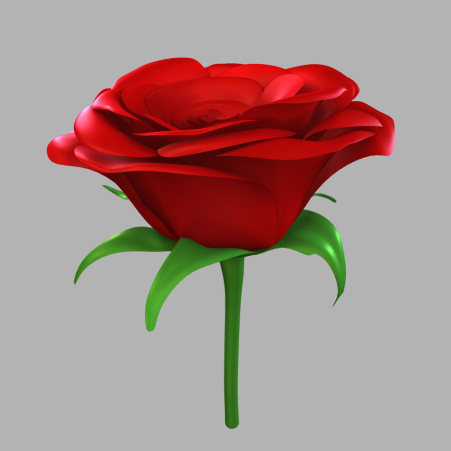 Rose royalty-free 3d model - Preview no. 4