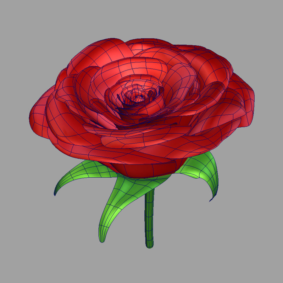 Rose royalty-free 3d model - Preview no. 7