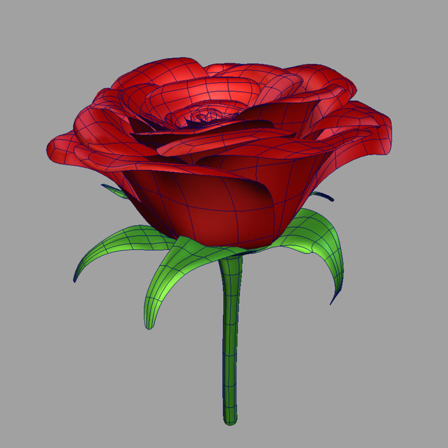 Rose royalty-free 3d model - Preview no. 8