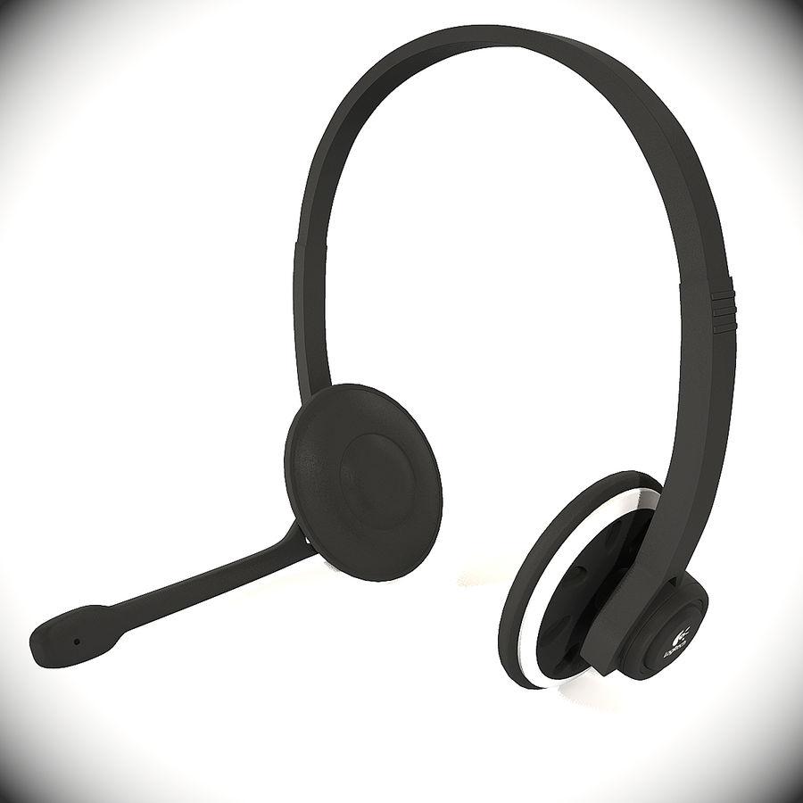 罗技耳机 royalty-free 3d model - Preview no. 2