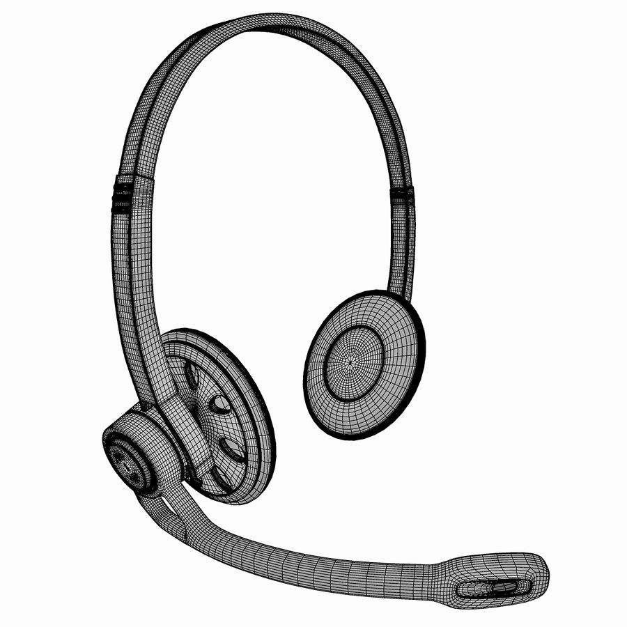 罗技耳机 royalty-free 3d model - Preview no. 7