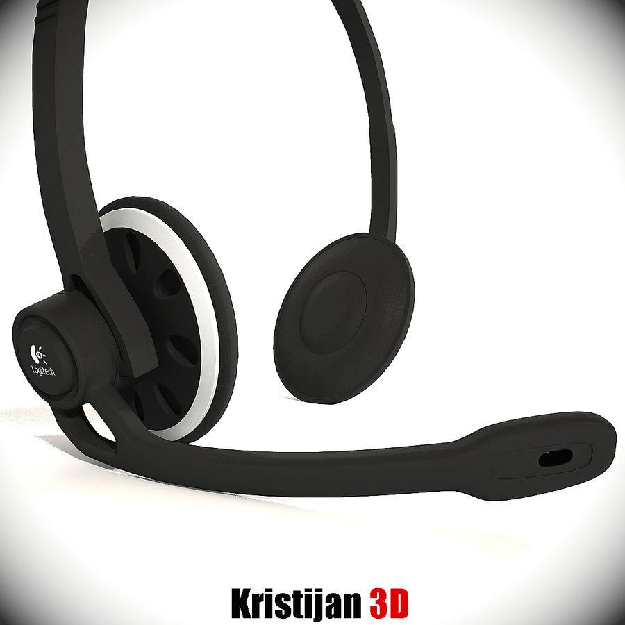 罗技耳机 royalty-free 3d model - Preview no. 1