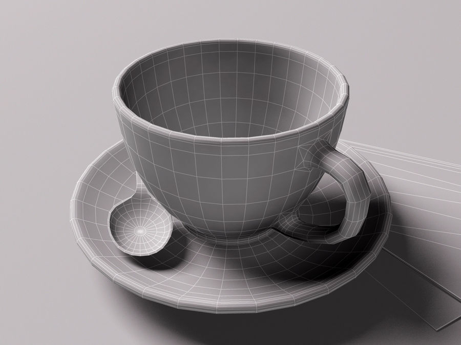 咖啡杯 royalty-free 3d model - Preview no. 7