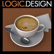 커피 컵 3d model