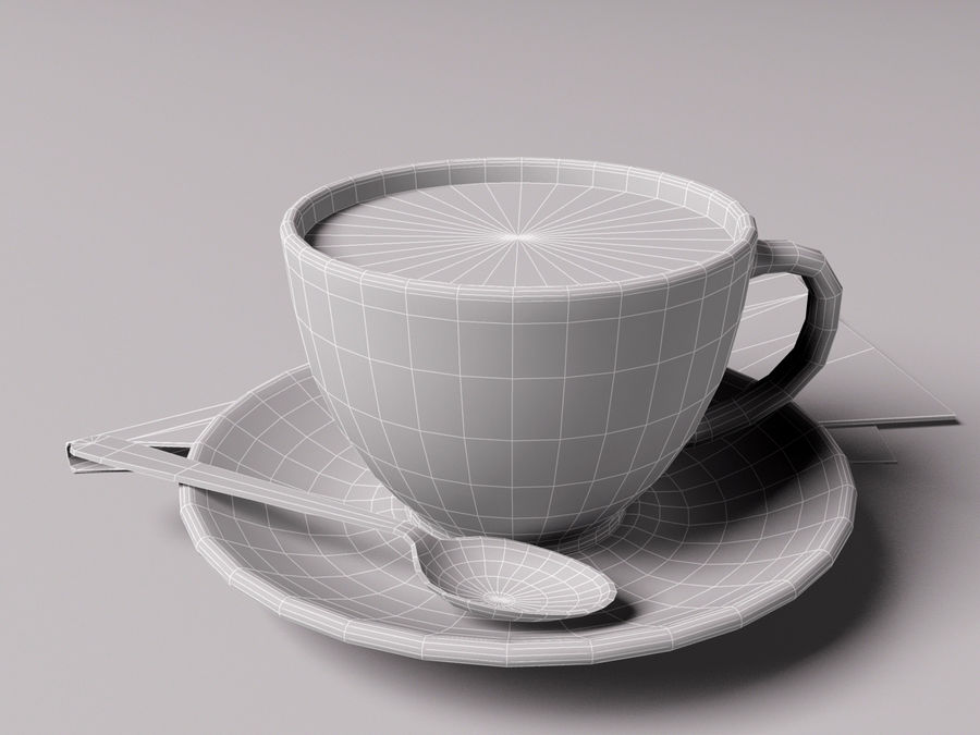 咖啡杯 royalty-free 3d model - Preview no. 5
