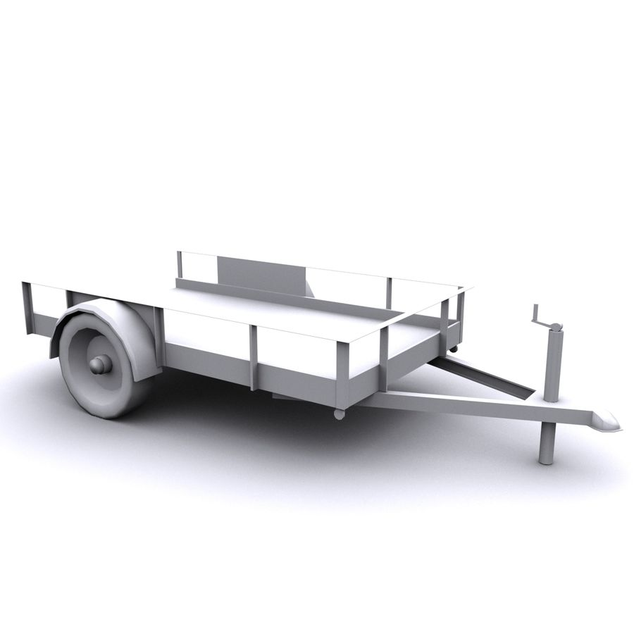 Utility trailer royalty-free 3d model - Preview no. 2