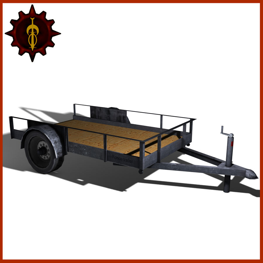 Utility trailer royalty-free 3d model - Preview no. 1