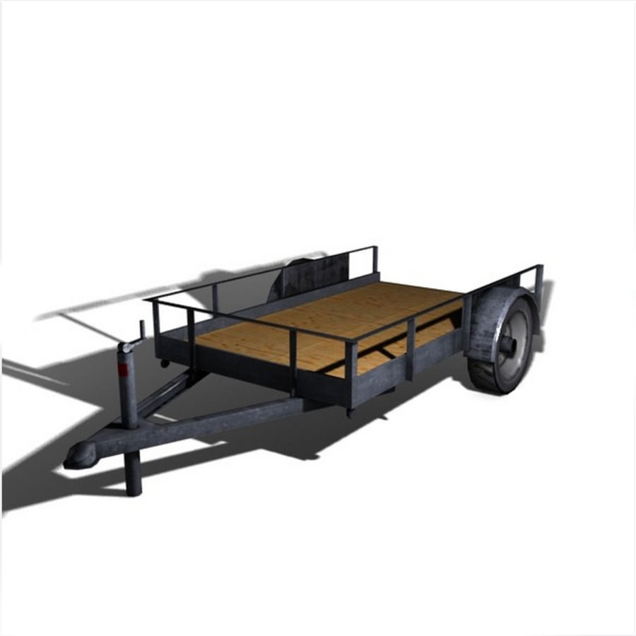Utility trailer royalty-free 3d model - Preview no. 4
