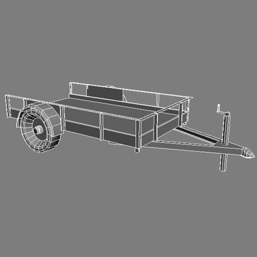 Utility trailer royalty-free 3d model - Preview no. 3