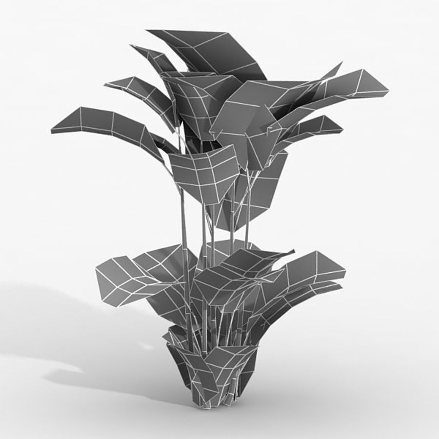 Plant Red Palm royalty-free 3d model - Preview no. 2