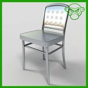Metalen caféstoel 3d model