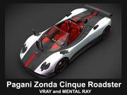 Pagani Zonda Cinque Roadster 3d model