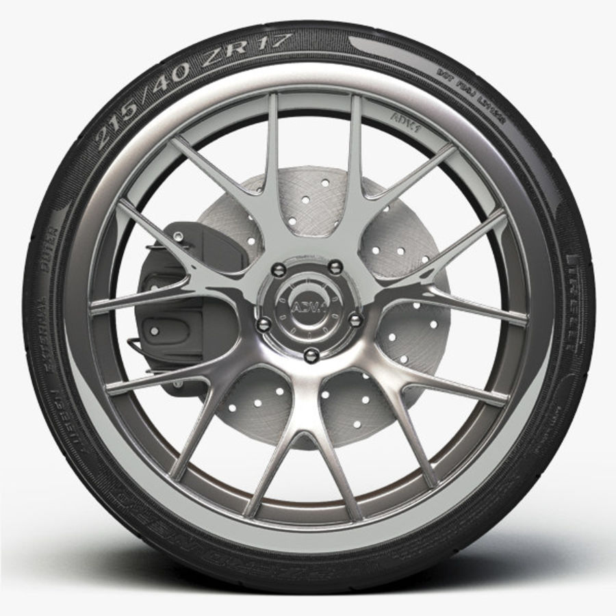 ADV.1 Wheel Type ADV7 royalty-free 3d model - Preview no. 2