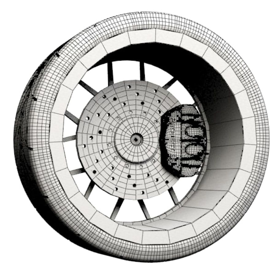 ADV.1 Wheel Type ADV7 royalty-free 3d model - Preview no. 6