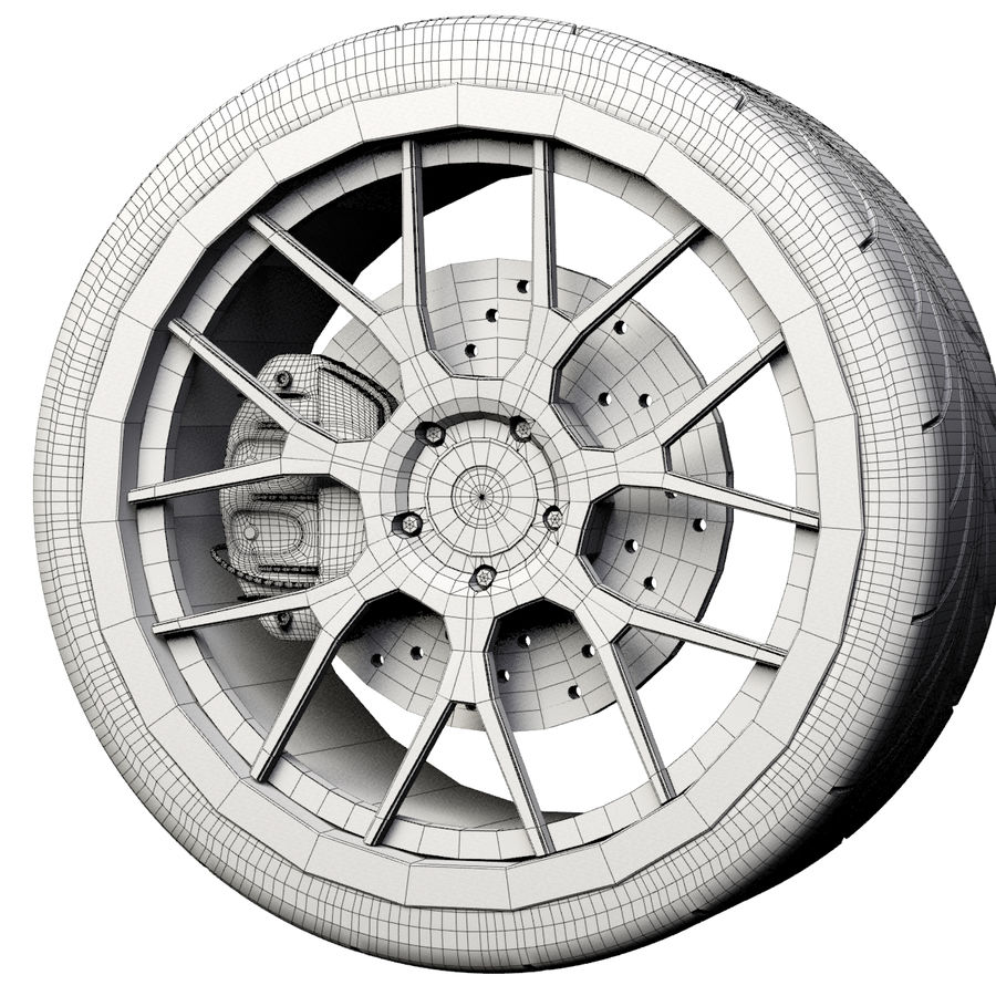 ADV.1 Wheel Type ADV7 royalty-free 3d model - Preview no. 4