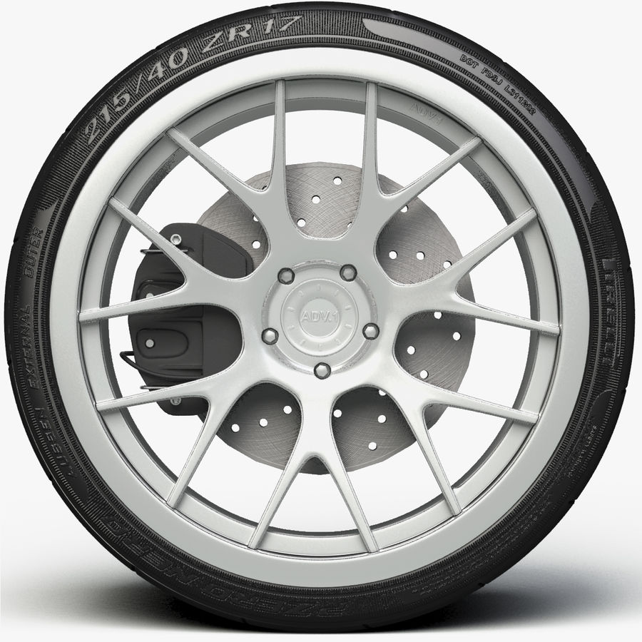 ADV.1 Wheel Type ADV7 royalty-free 3d model - Preview no. 1