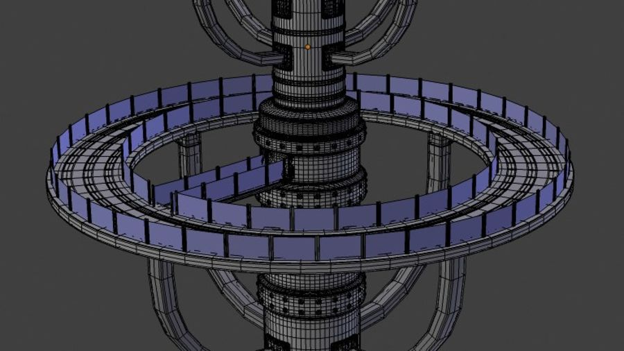 Futuristic Architecture Structure royalty-free 3d model - Preview no. 5